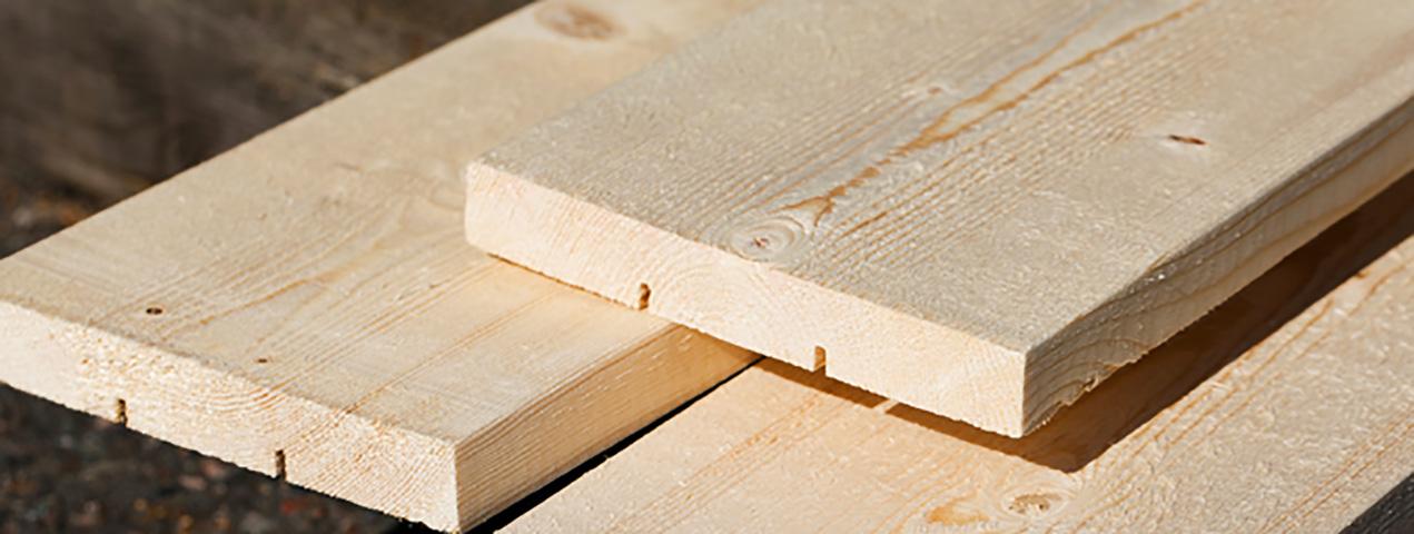 Fassadenholz  eines Holzhauses
